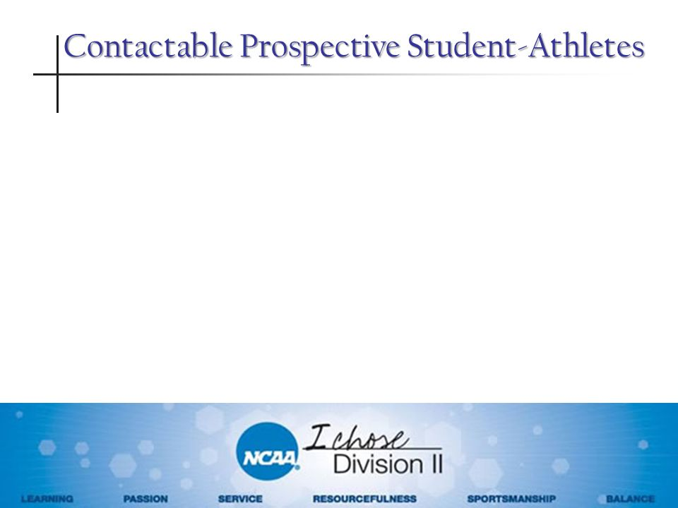 Contactable Prospective Student-Athletes