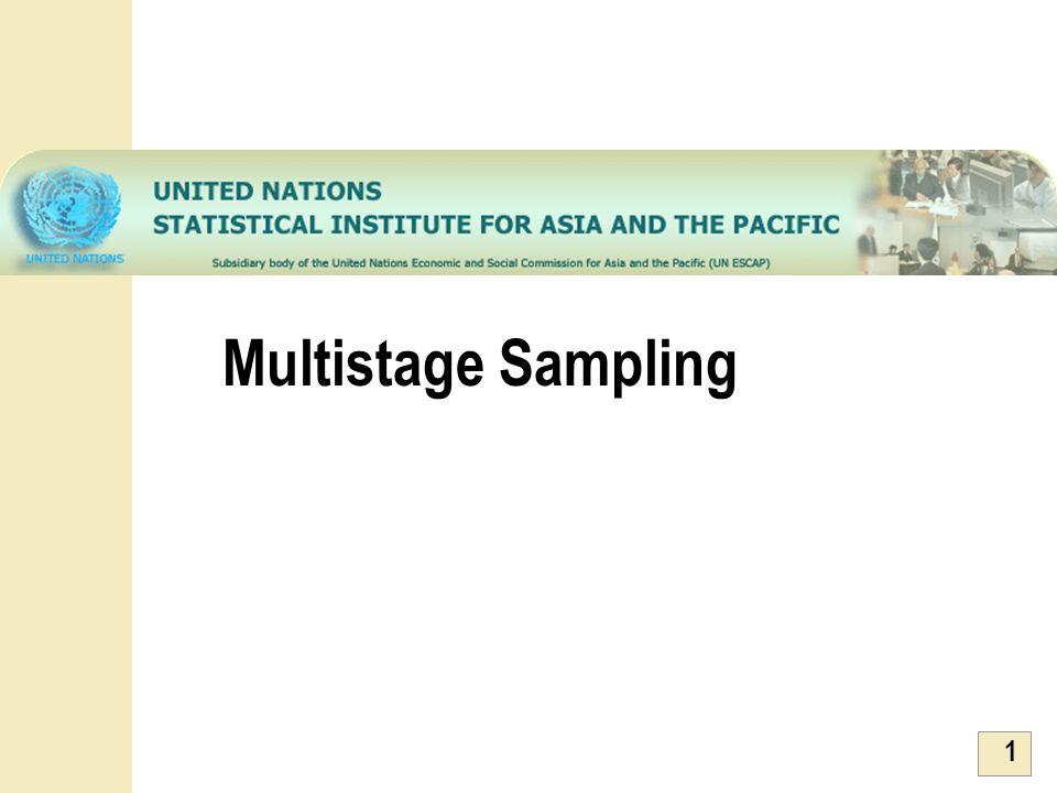 1 Multistage Sampling