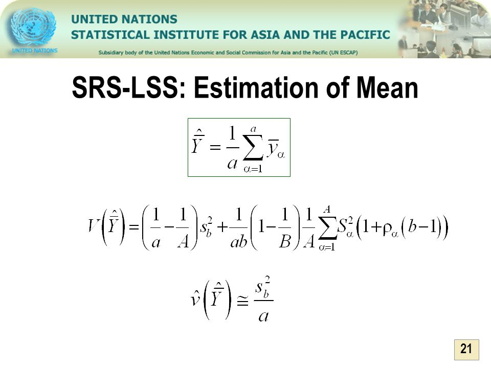 21 SRS-LSS: Estimation of Mean
