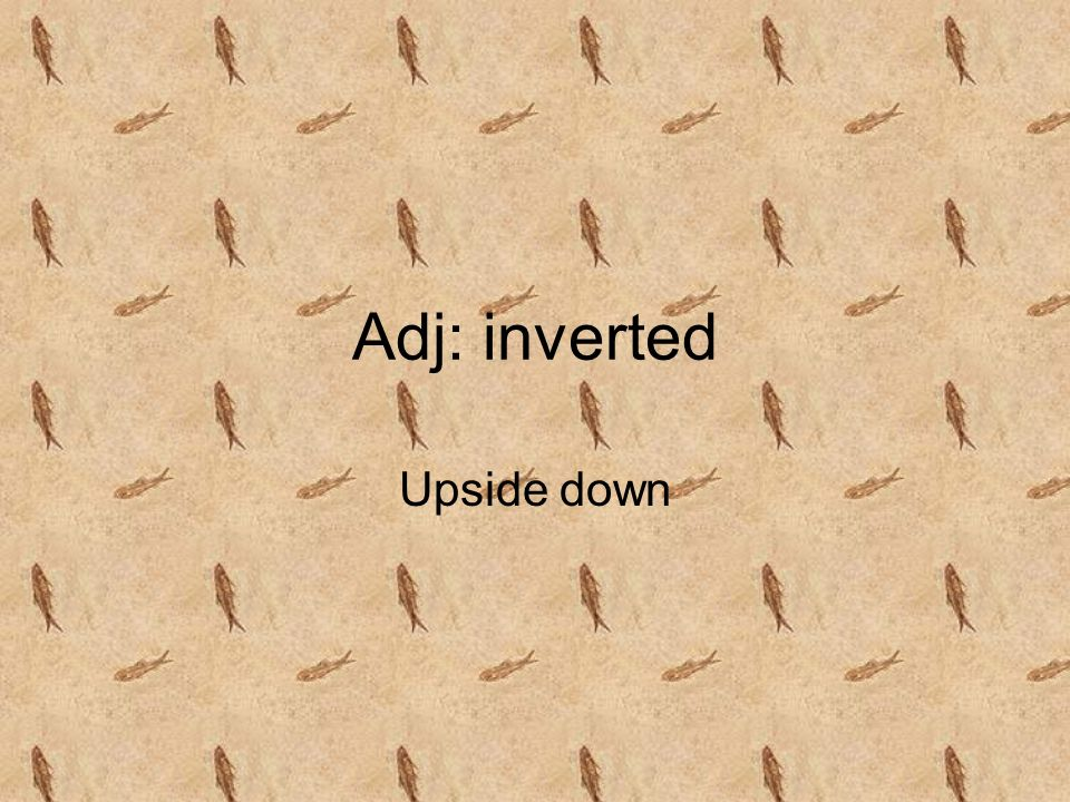 Adj: inverted Upside down