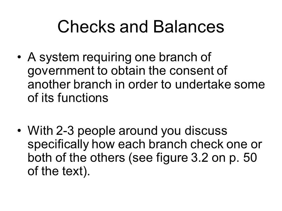 checks and balances 4 essay