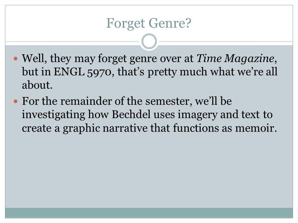 Forget Genre.