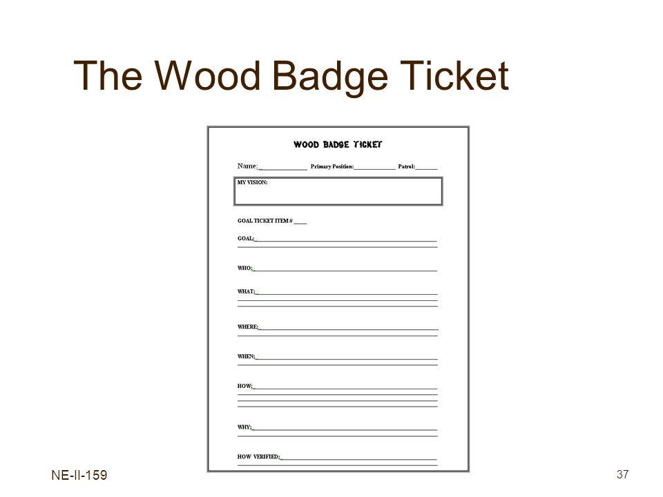 NE-II-159 37 The Wood Badge Ticket