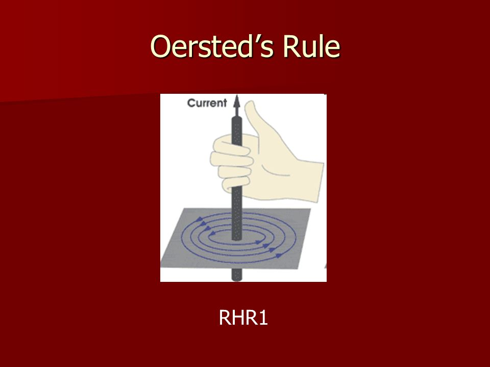 Oersteds Rule RHR1