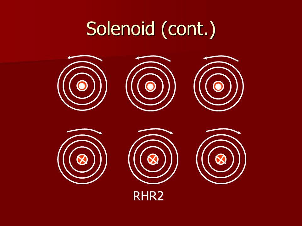 Solenoid (cont.) RHR2