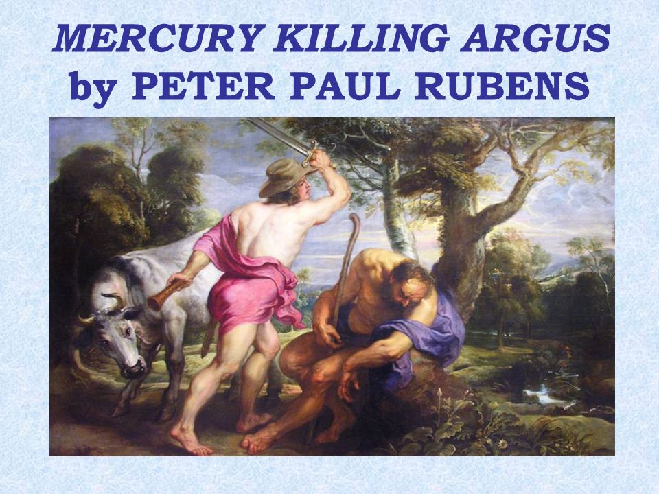 MERCURY KILLING ARGUS by PETER PAUL RUBENS