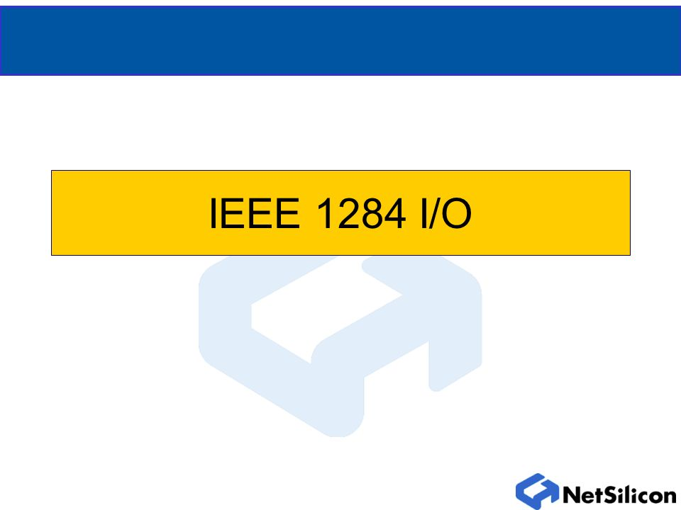 IEEE 1284 Overview Four parallel port interfaces through ENI 40 pins Uses external latching transceivers Host-side only No IEEE negotiation