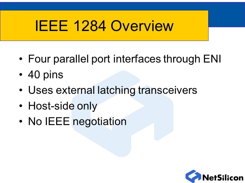 Net+ARM/IEEE 1284 Signal Name Equivalencies