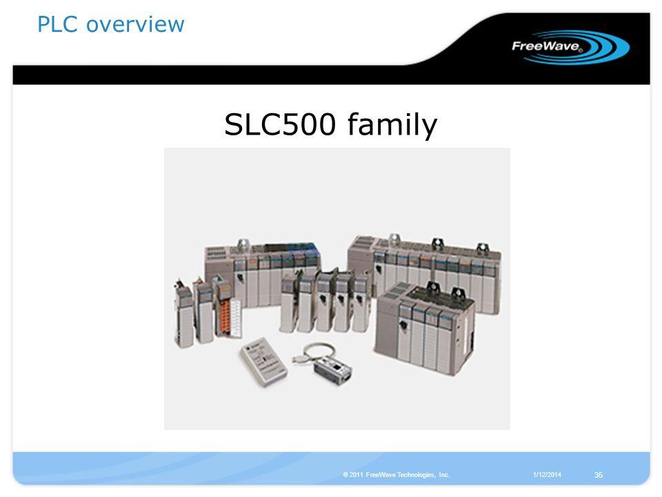 1/12/2014© 2011 FreeWave Technologies, Inc. 35 SLC500 family PLC overview