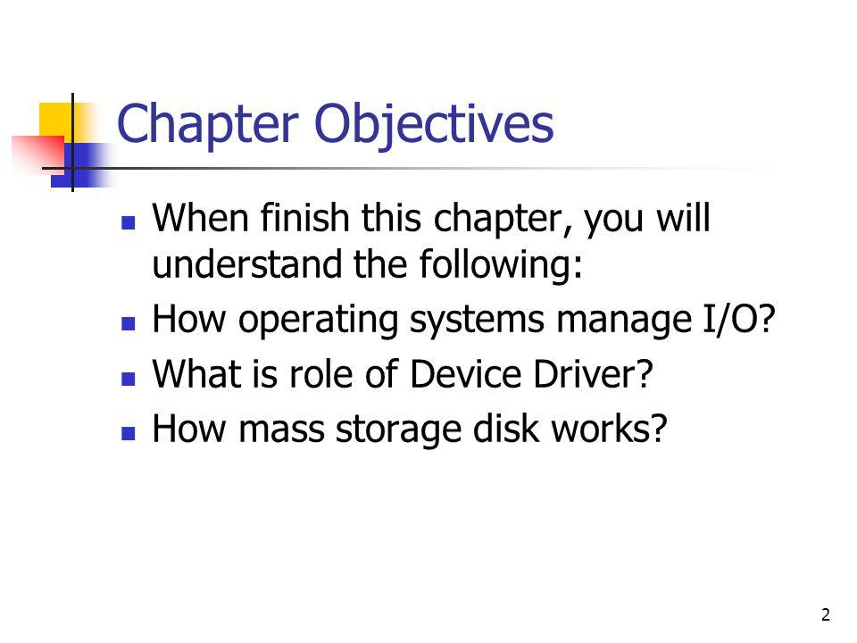 13 A Kernel I/O Structure