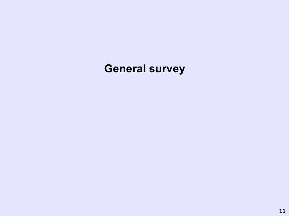 General survey 11