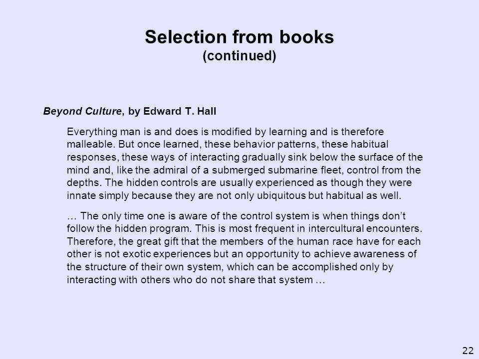 Beyond Culture, by Edward T.