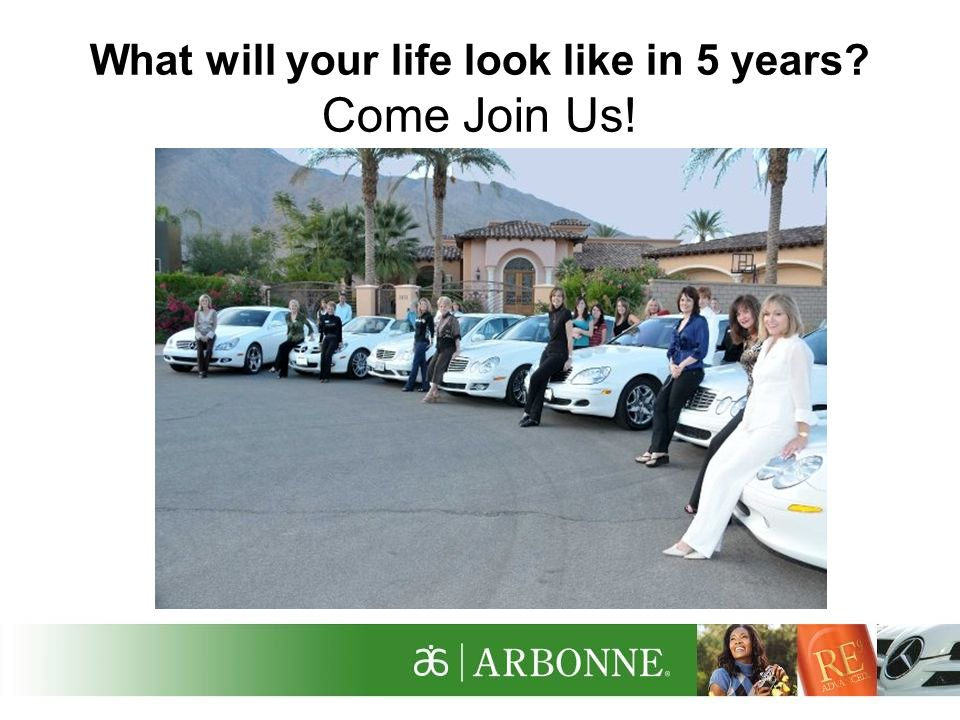 What will your life look like in 5 years? Come Join Us!