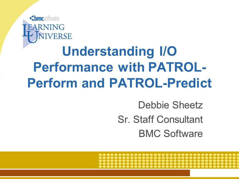 C4P075 2 I/O Performance Analysis Overview I/O metric definitions Baseline I/O performance analysis What–if I/O performance analysis