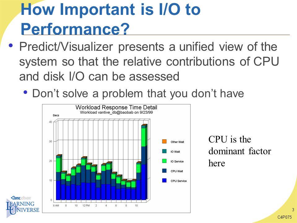C4P075 24 Baseline Case Study Observe Disk processing efficiency Looks good.
