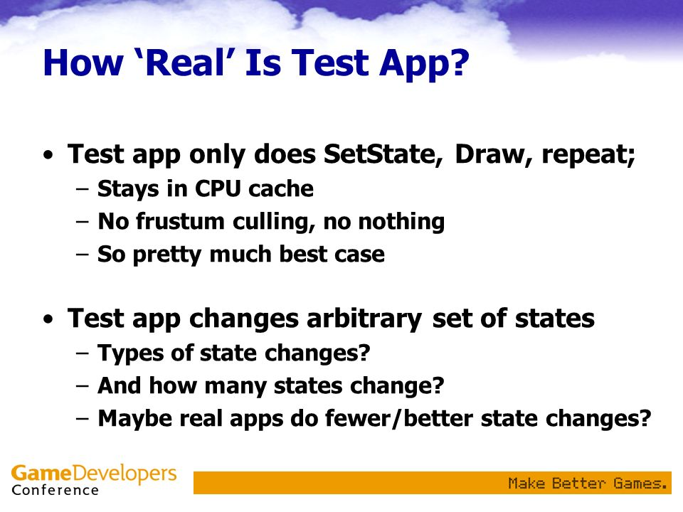 How Real Is Test App.