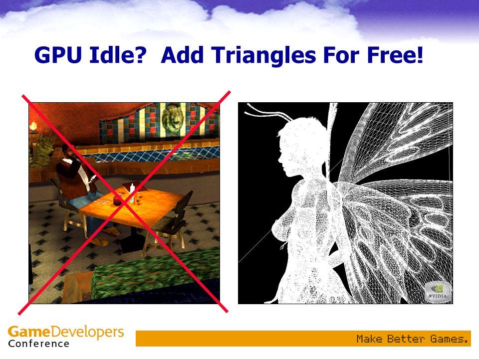 GPU Idle Add Triangles For Free!
