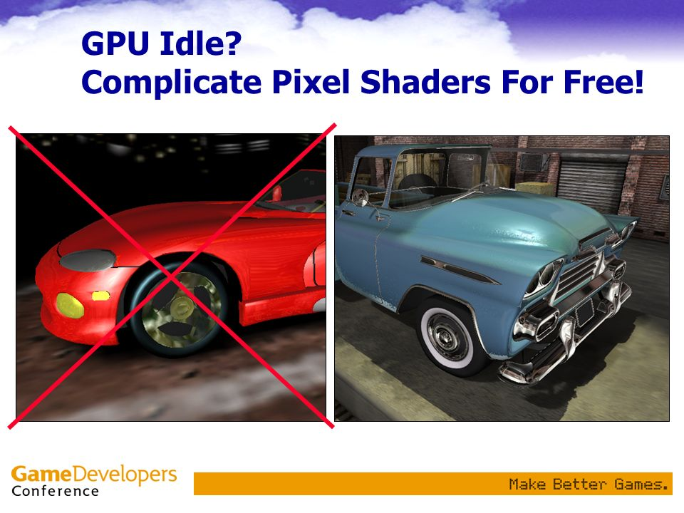 GPU Idle Complicate Pixel Shaders For Free!