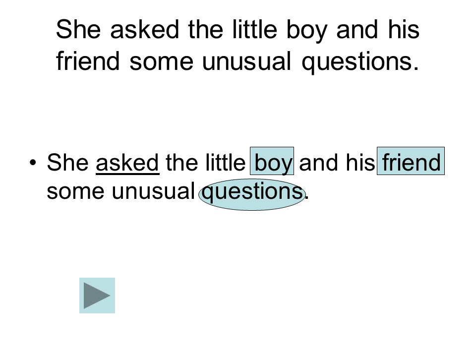 She asked the little boy and his friend some unusual questions.
