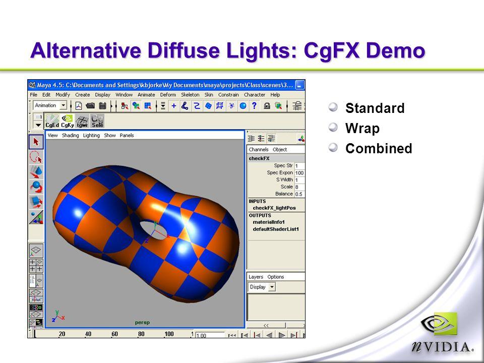 Alternative Diffuse Lights: CgFX Demo Standard Wrap Combined
