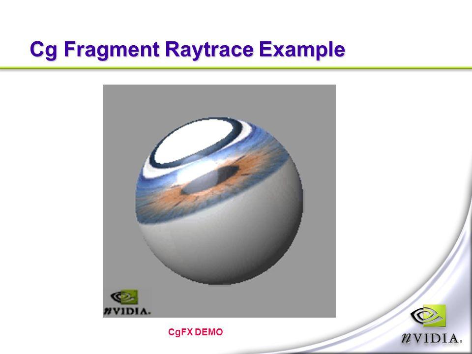 Cg Fragment Raytrace Example CgFX DEMO