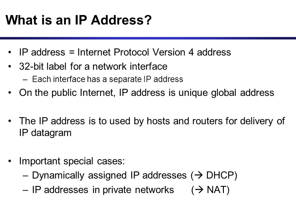 What is an IP Address.