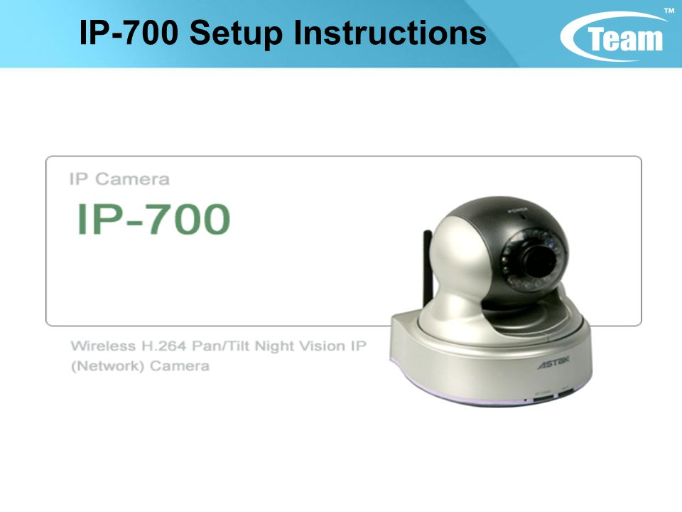 IP-700 Setup Instructions