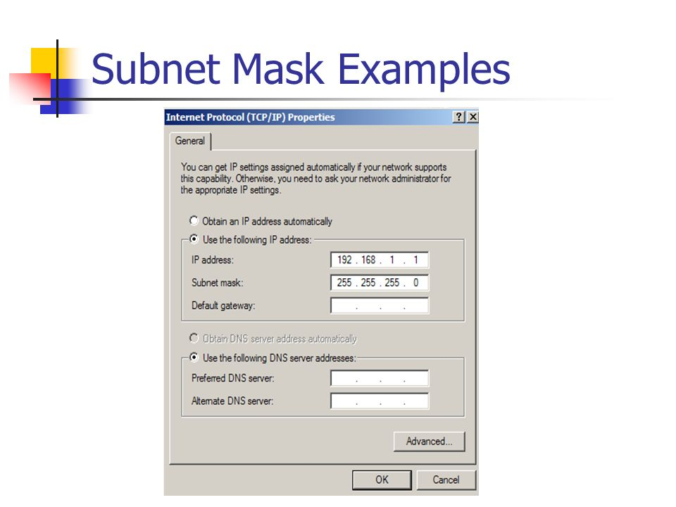 Subnet Mask Examples