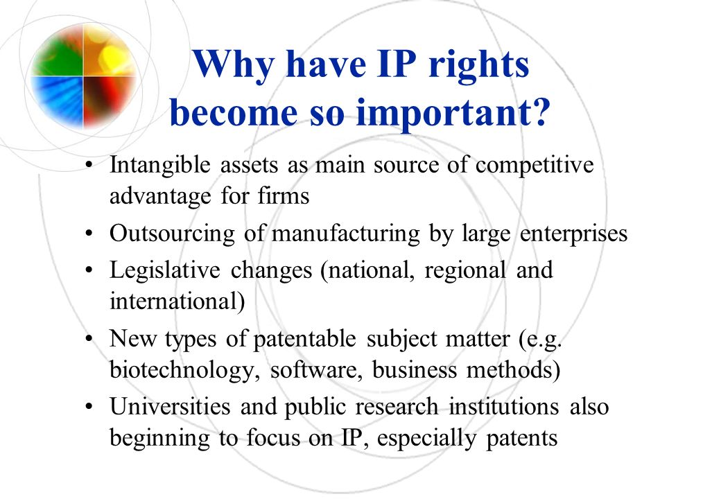 Why have IP rights become so important.