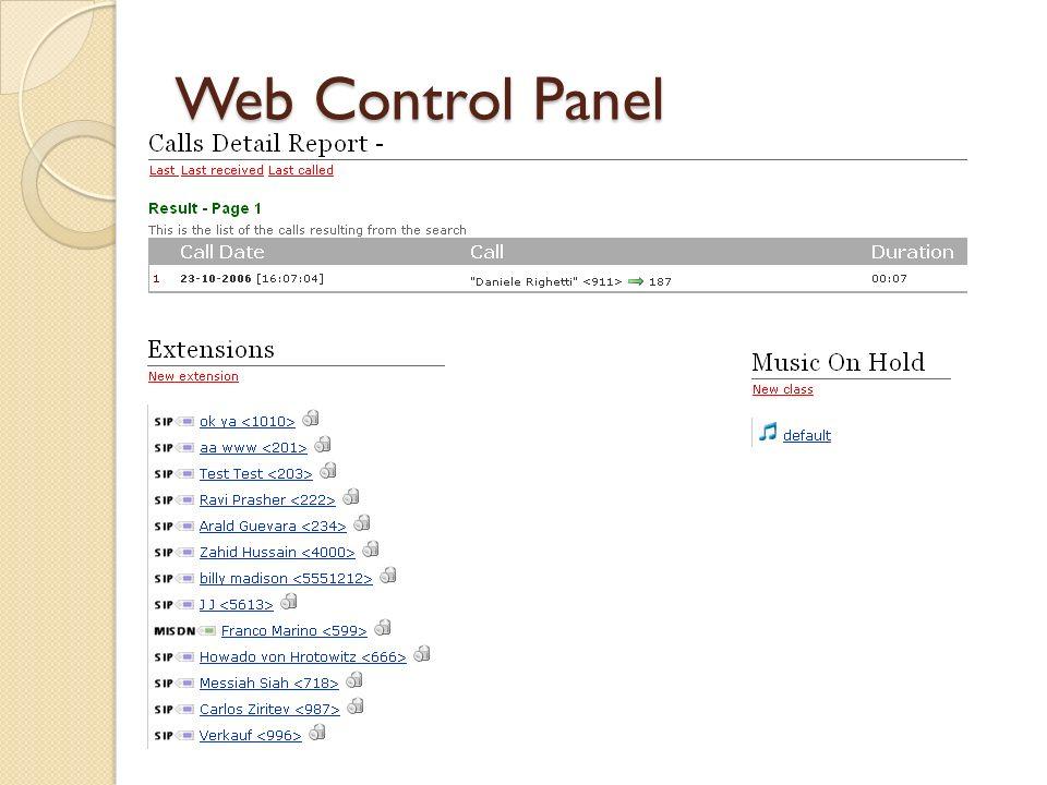 Web Control Panel