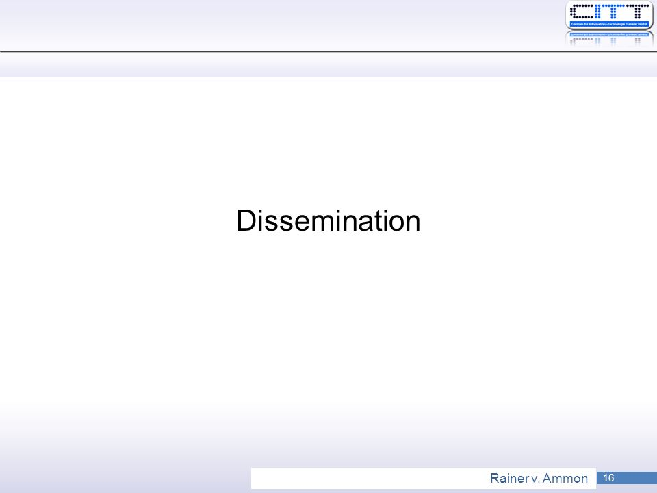 16 Rainer v. Ammon Dissemination