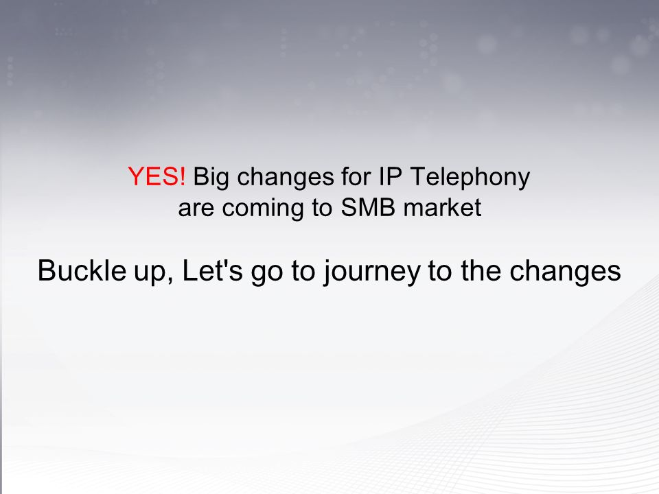 Wait a moment, there are significant changes from 2008 (2008) IP TDM