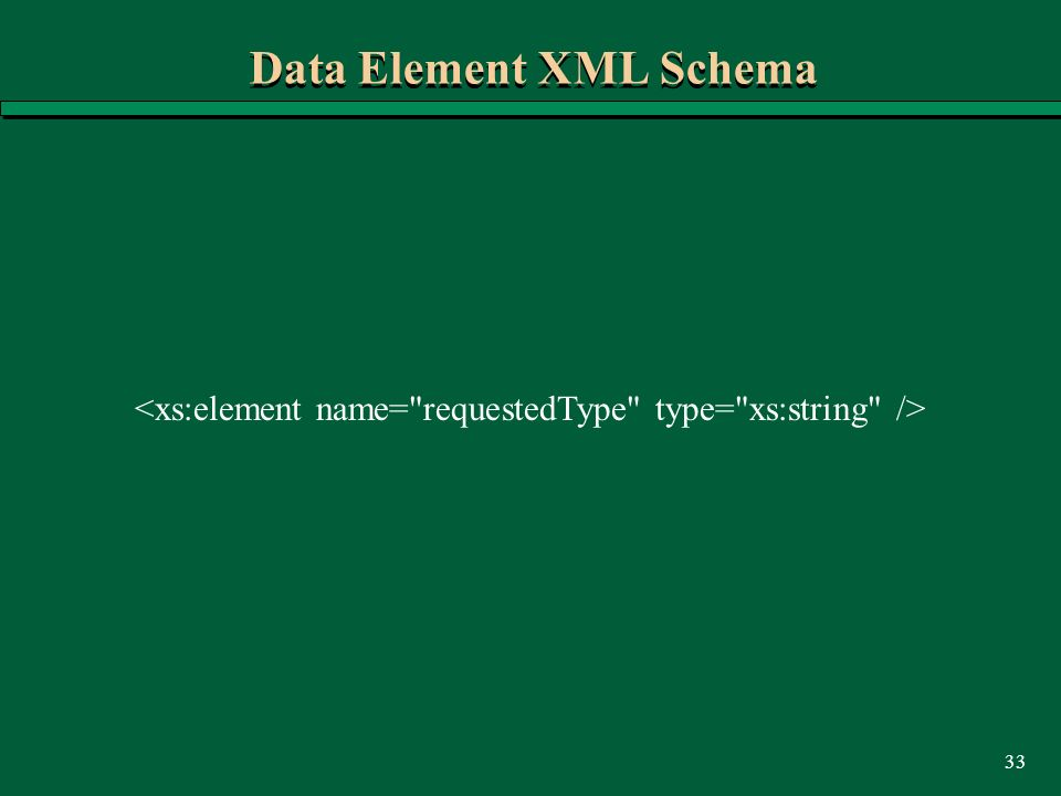 33 Data Element XML Schema