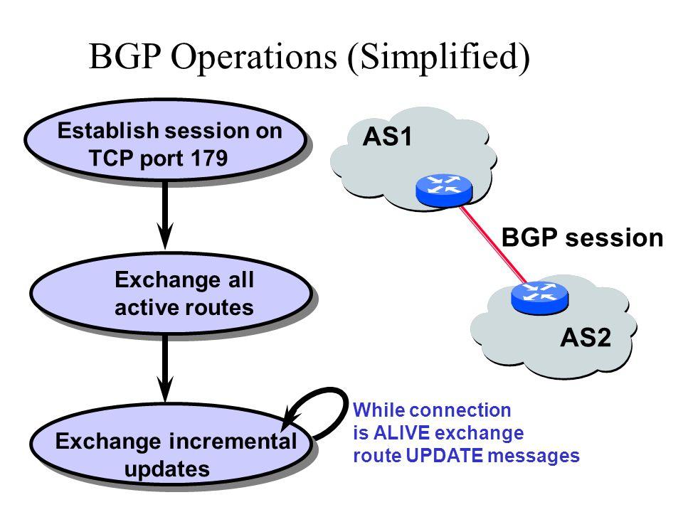 BGP AS AS BGP AS AS BGP