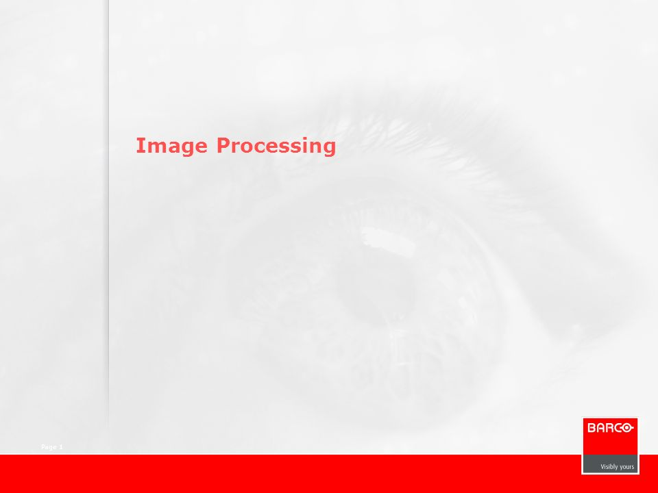 Page 1 Image Processing