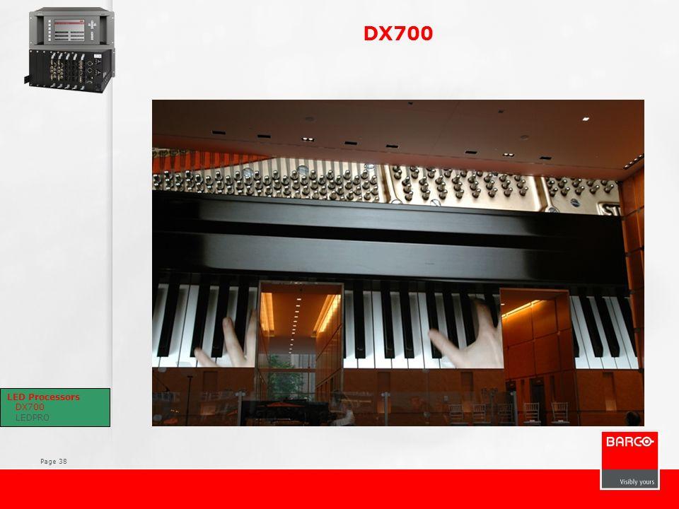 Page 38 DX700 LED Processors DX700 LEDPRO