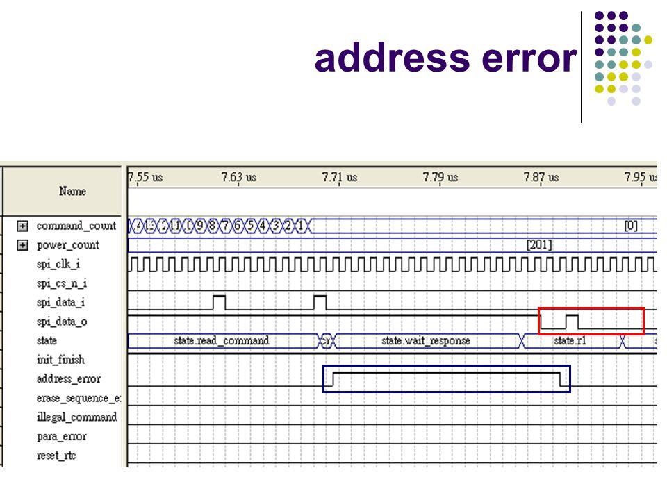 address error