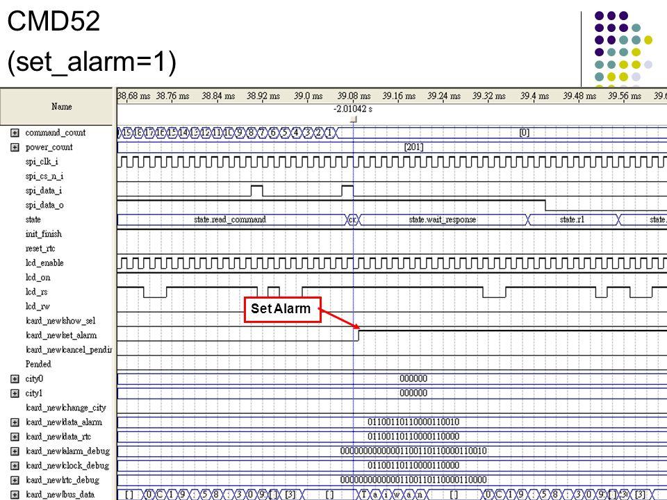 Set Alarm CMD52 (set_alarm=1)