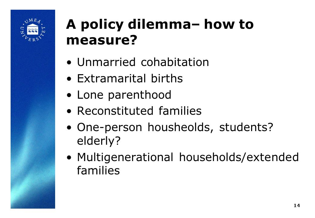 A policy dilemma– how to measure.
