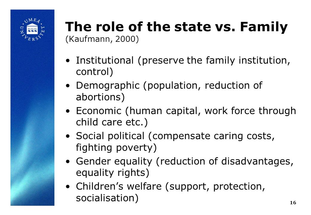 The role of the state vs.
