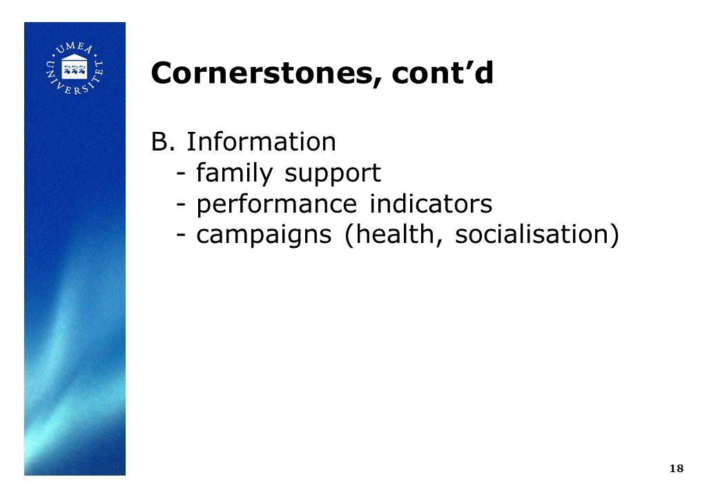 Cornerstones, contd B.