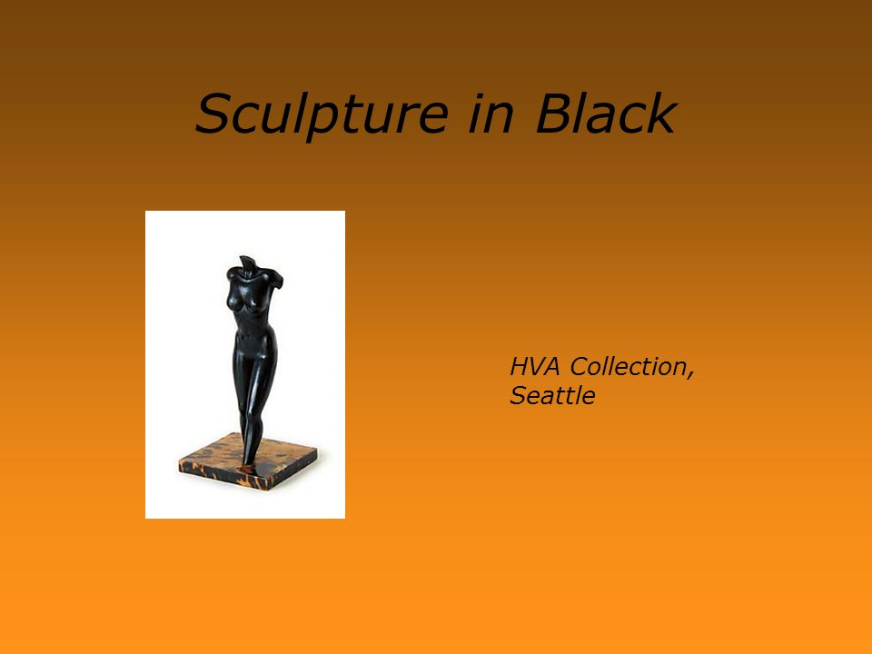 HVA Collection, Seattle Sculpture in Black