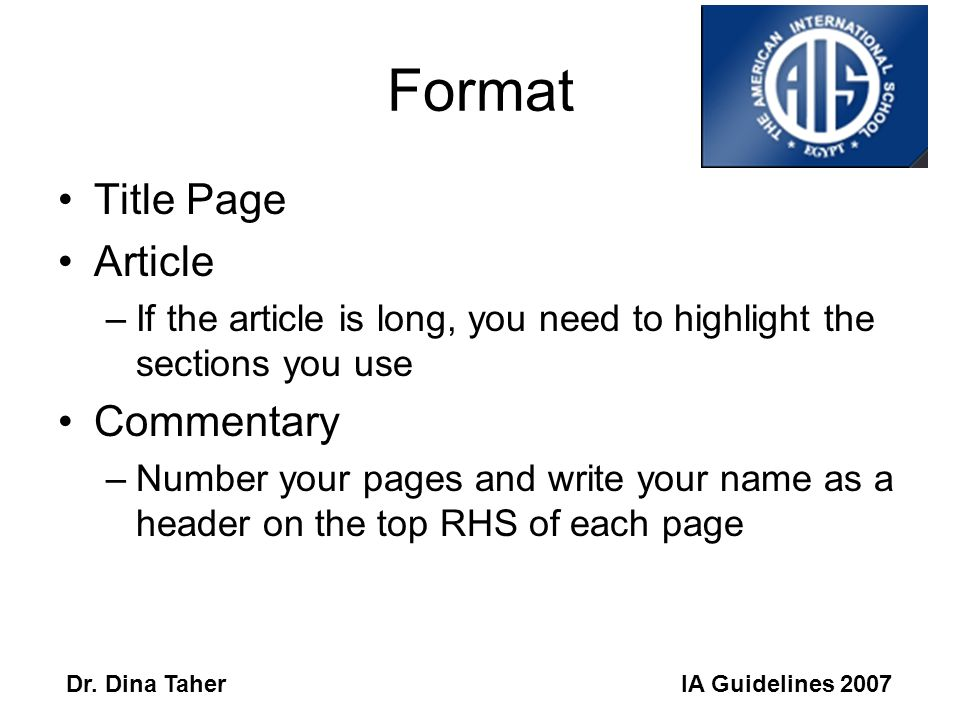 IA Guidelines 2007Dr.