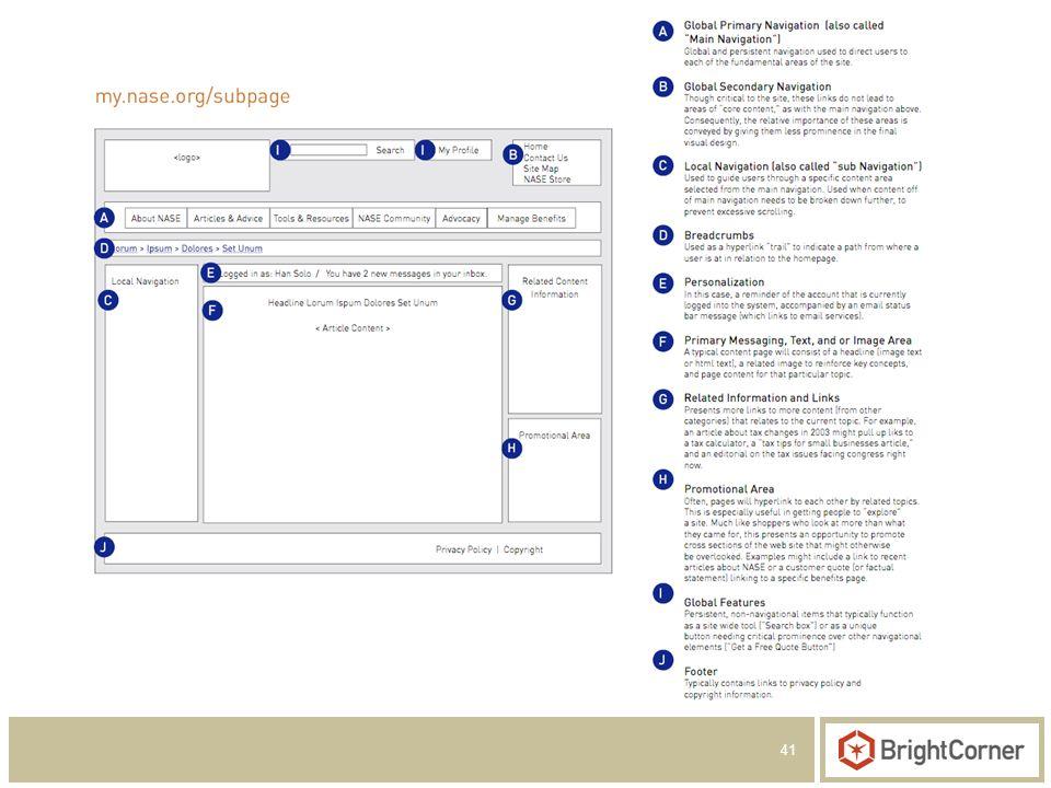41 Create a Navigational Framework