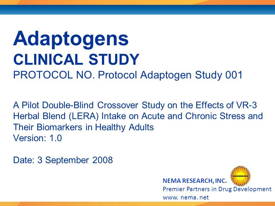 NEMA RESEARCH, INC. Premier Partners in Drug Development www.
