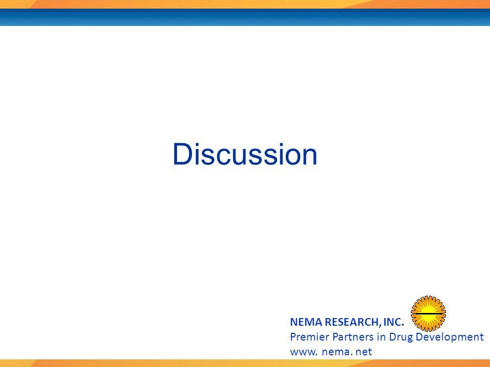Premier Partners in Drug Development www. nema. net Discussion
