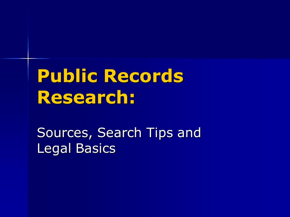 What Is Not Public Record.
