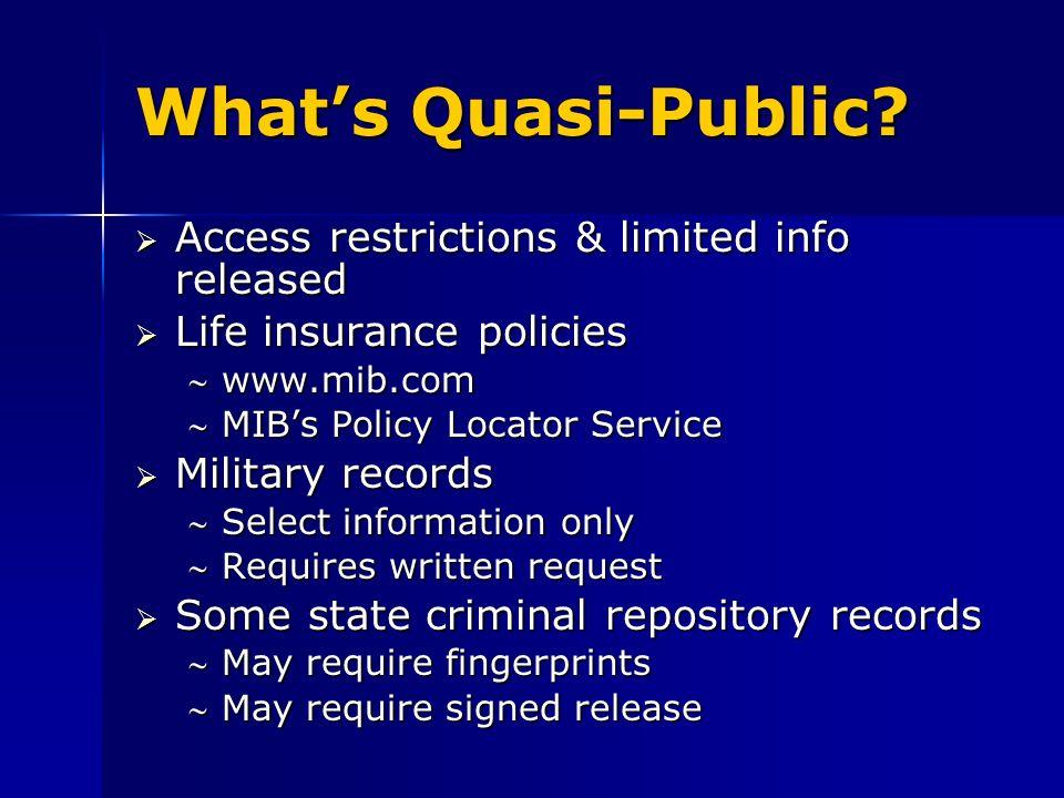 Whats Quasi-Public.