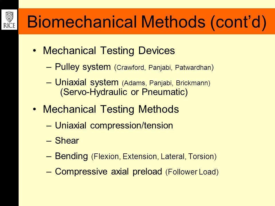 Acknowledgment Computational and Experimental Biomechanics Lab KUKA USA Robotics KUKA Development Labs ATI Industrial Automation Joe Gesenhues (Ryon Engineering Lab, Rice University)