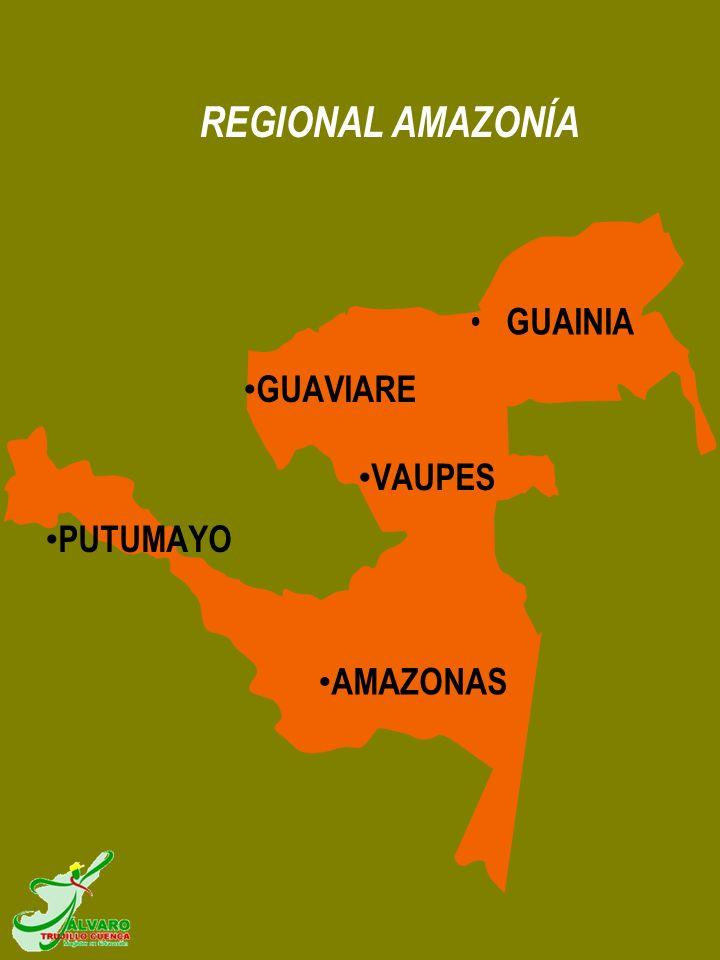 REGIONAL AMAZONÍA GUAINIA AMAZONAS GUAVIARE PUTUMAYO VAUPES